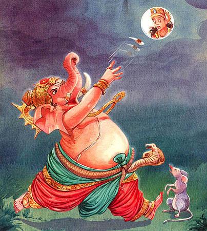 moon-ganesha