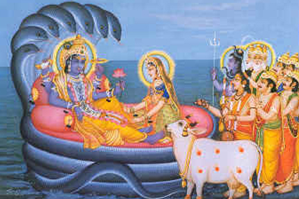 Gods Praying Srimannarayana